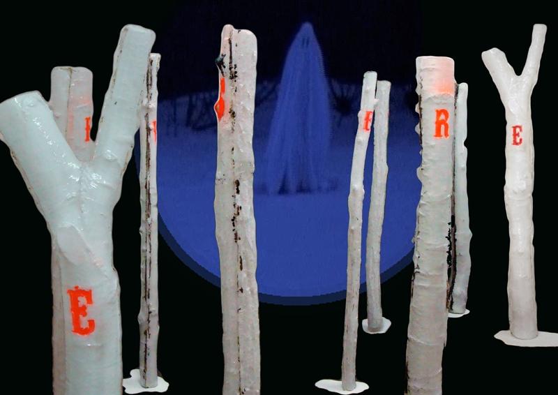 reverse the curse, painting, Porcelaine, plastic, installation, sculpture