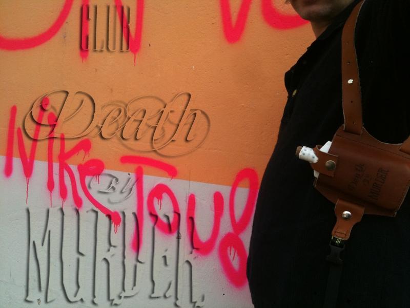 paraphenilia, club death by murder, advertising, holster